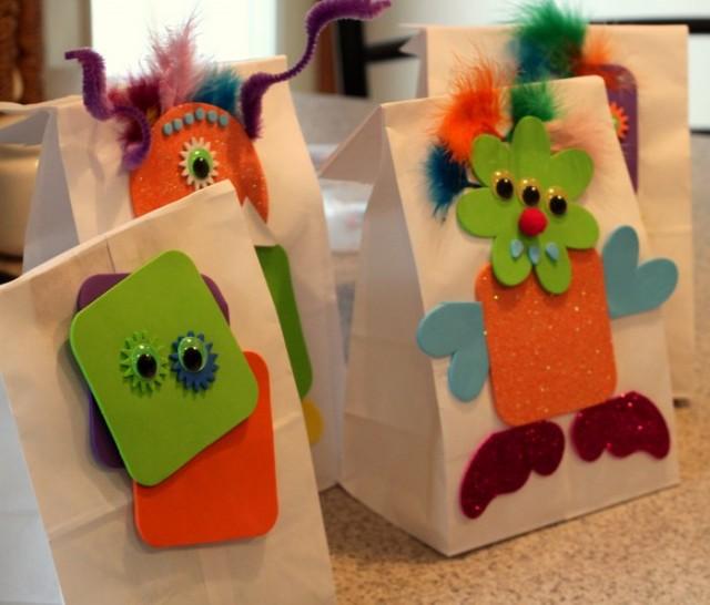 Foam Monster Treat Bags