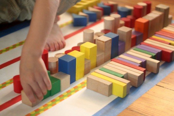 Shape Activity: Sorting Shapes of Blocks