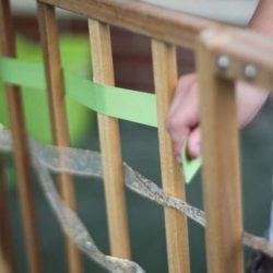 Weaving activity idea to improve child's fine motor skills