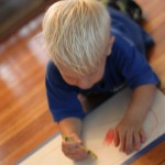 Drawing on the Floor Kids Art! Super Simple Art Project