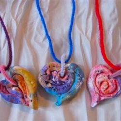 Spiral Clay Necklace