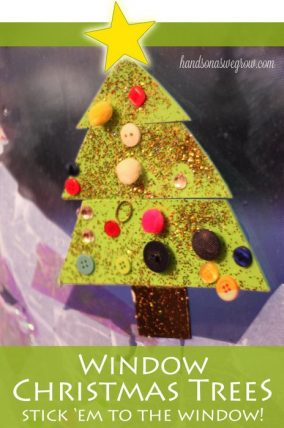 Foam Christmas Tree Window Decoration