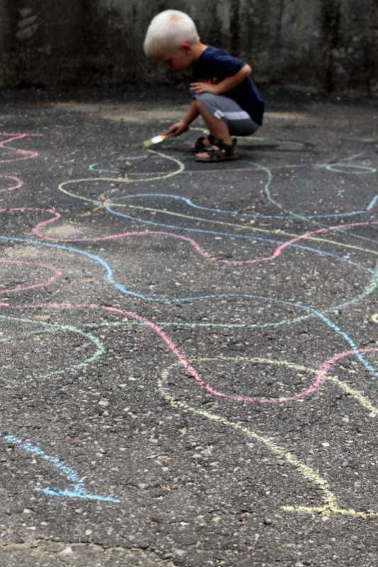 Squiggle! Tracing Lines on the Driveway