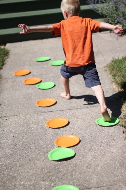 Hop! Skip! Jump! with Paper Plates