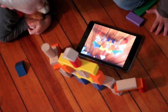 Using the iPad as a guide for building with blocks