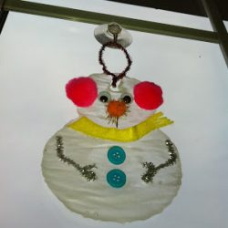 Snowman Window Cling Craft
