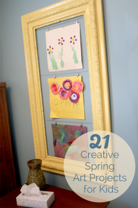21 creative and colorful Spring art projects for kids to make!