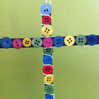 Button Cross Craft for Kids