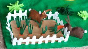 No Sew Easter Bunny Felt Playmat