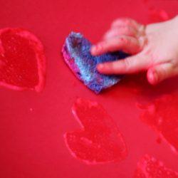 Sponge Art Painting for Kids