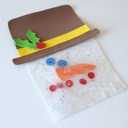 Squishy Snowman Sensory Bag - 1 of 40 winter activities for toddlers