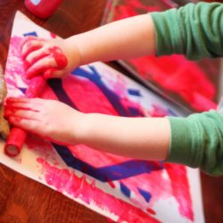 Tape Resist Valentine Art for Toddlers