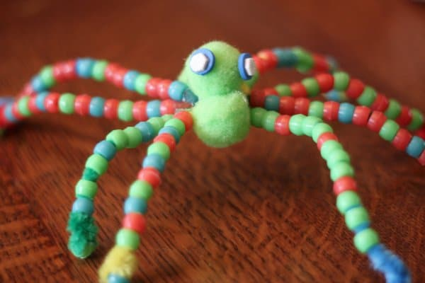 A halloween beaded spider craft for kids hands on as we grow for Bead craft ideas for kids