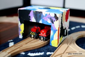 Dryer Sheet Box Engine Shed from Play Trains!