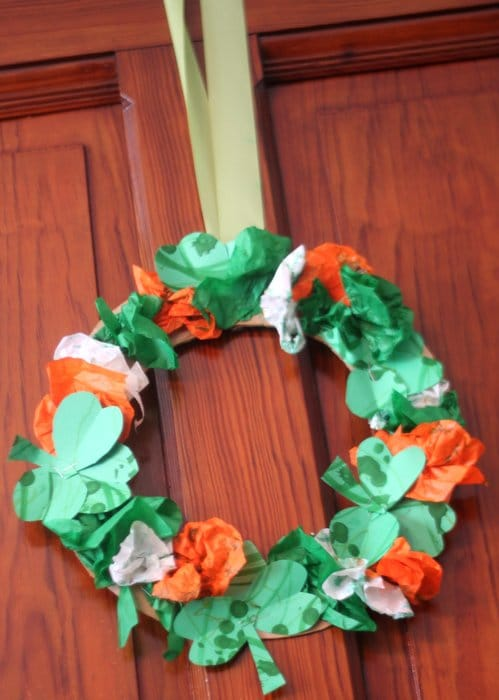 Wreath Craft for St Patrick's Day