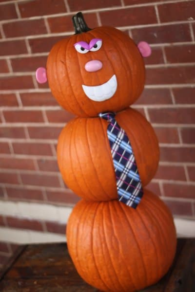 Mr. Pumpkin Man is a fun no carve decorating idea for kids!