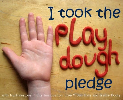Play Dough Pledge at NurtureStore, The Imagination Tree and Sun Hat & Wellie Boots
