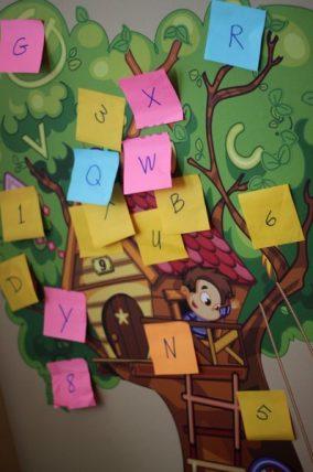 Sticky Note Letter Scavenger Hunt