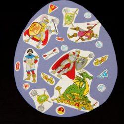 Sticker Easter Egg Craft from Danya Banya