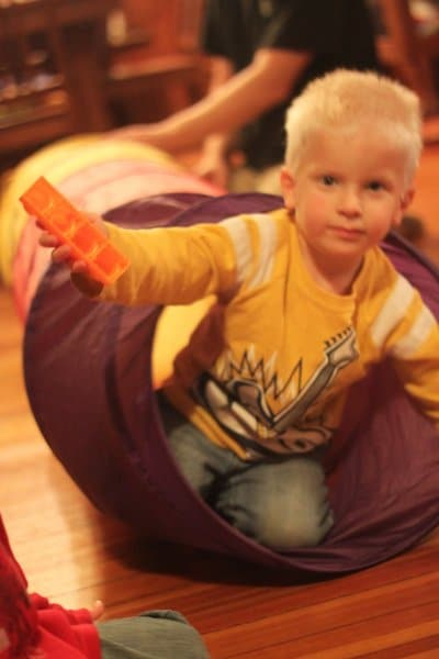 A play tunnel to get the kids moving!
