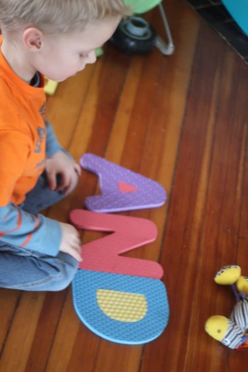 Bean Bag Toss Sight Word Game