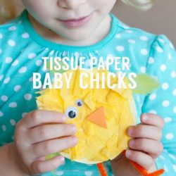 Tissue Paper Baby Chicks from Simple As That