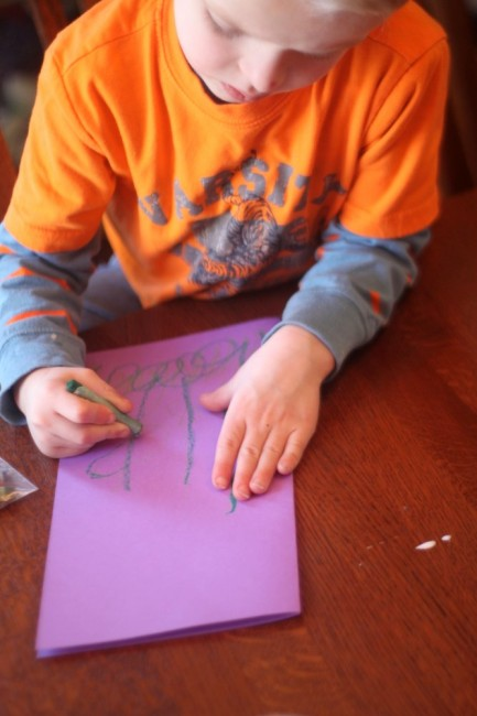 Drawing Flowers for Mother's Day Craft