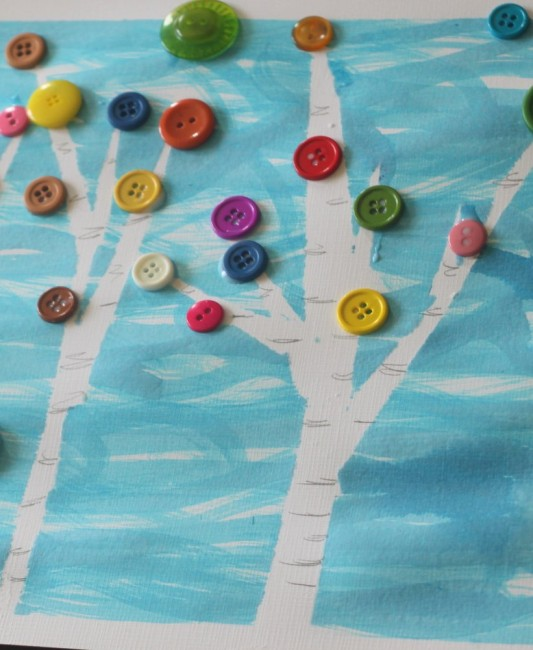 Birch Tree Art & Help Reforest for Arbor Day