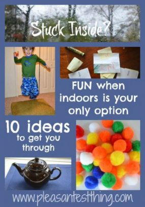 Stuck Inside? 10 Ideas from The Pleasantest Thing