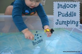 Indoor Puddle Jumping from The Pleasantest Thing