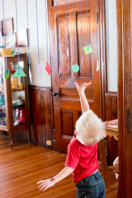 Jump and grab the matching shapes for preschoolers