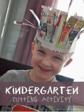 Kindergarten Cutting Activity from Makeovers & Motherhood