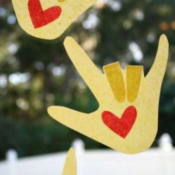 I LOVE You Hand Suncatcher from Fantastic Fun & Learning
