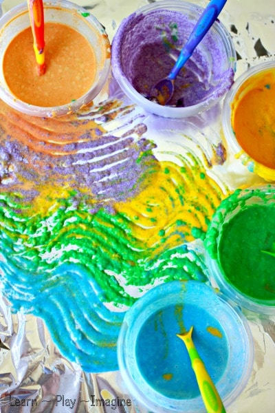 Scented Sand Painting On Foil From Learn Play Imagine