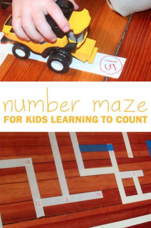 Number Maze for Kids Learning to Count hands on as we grow