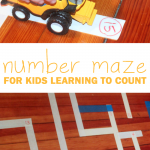 Number Maze for Kids Learning to Count