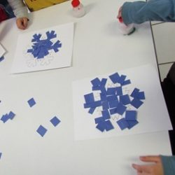 Snowflake Puzzles From Teach Preschool Abstract Snowman Art