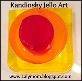 Kandinsky Jello Art from Lalymom