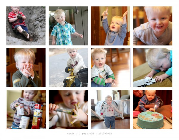 Collage to display snapshots of kids