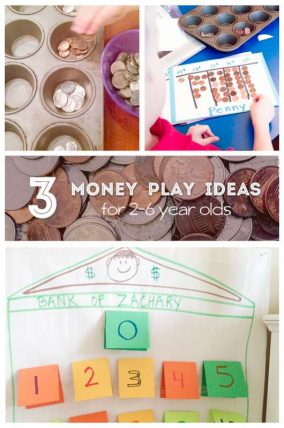 3 easy money play ideas for 2 to 6 year olds