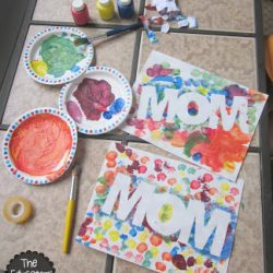 Tape Resist MOM - 1 of 10 non-flower crafts for mom