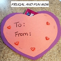 Kid-Made Valentine for School