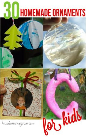 30 Homemade Ornaments to make with or for the kids