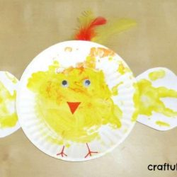 Paper Plate Chick from Craftulate