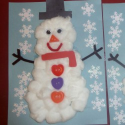 Puffy Snowman Craft
