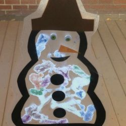 Snowman Suncatcher Craft