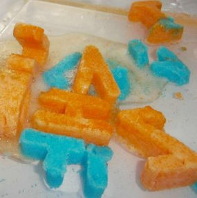 Icy, Fizzy Letters from Fun-A-Day!