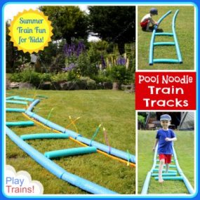 Pool Noodle Train Tracks from Play Trains!