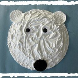 puffy paint polar bear face