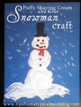 Puffy Paint Snowman Craft from Tips From a Typical Mom